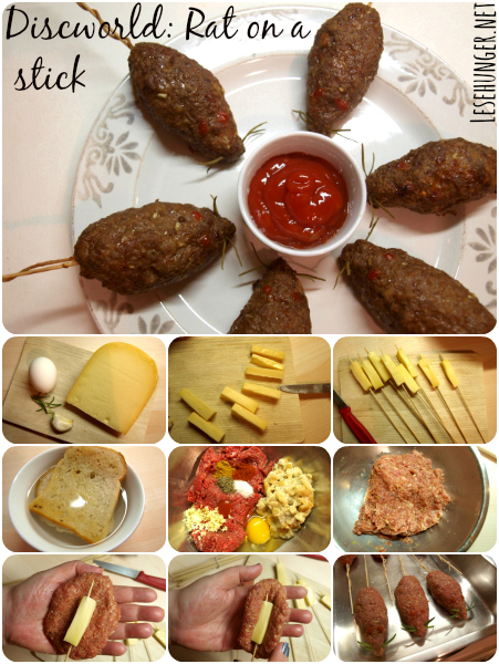 Rezept für Ratte am Spieß - wie in Pratchett Scheibenwelt-Romanserie /How to mak rat on a stick like in Pratchett's discworld series. #discworld #scheibenwelt #pratchett